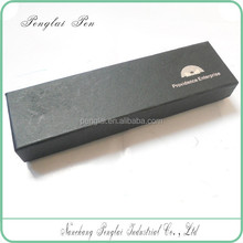 2015 Simple and beautiful black EVA Yellow inner cloth Heaven and Earth cover promotional customized paper pen box