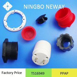 TS16949 factory plastic hip flask