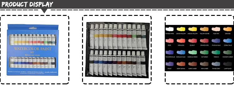 높은 품질 24 개 12 미리리터 전문 수채화 페인트 세트