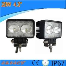 "2015 very popular 4.3""20w led flood work light,portable work light easy install in all truck car"