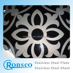 art etched stainless steel sheet ; 316L stainless steel ETCHE plate : 304 stainless steel checkered plate
