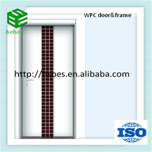 Modern Style WPC Material Frosted Glass Bathroom Door waterproof
