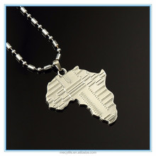 MECY LIFE fashion design africa map shaped pendant for best friend