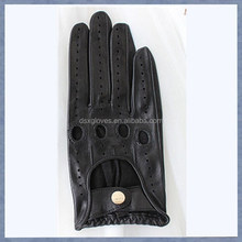Custom Lady Leather Glove Sheepskin Leather Driving Glove Motorcycle Gloves