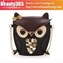 New Lady Splicing Color Holder Cover Bag Hand Bag Fashion Women Owl Bag 17782