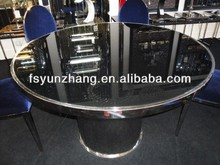 round glass dining table 6 chairs set
