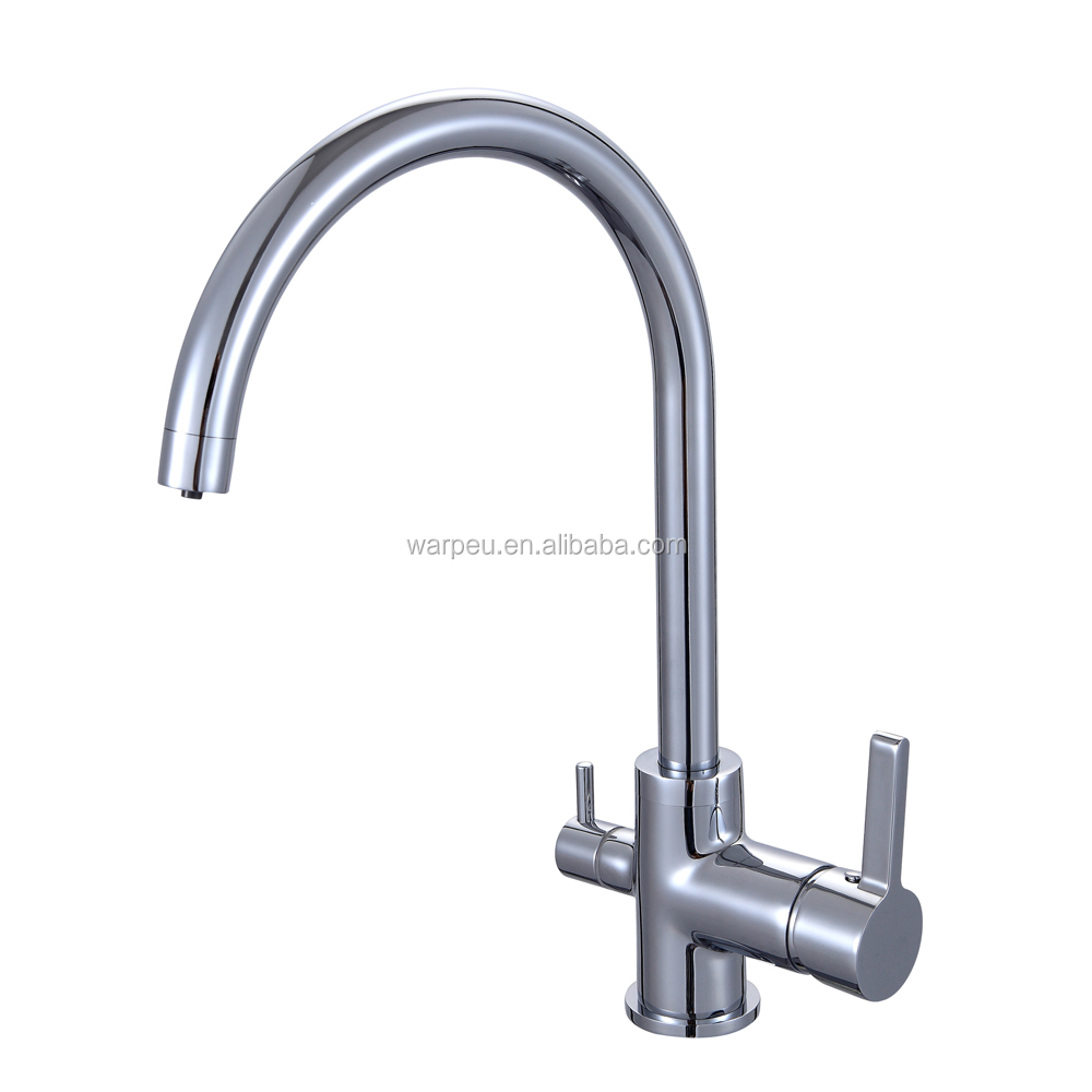 Messing Gesundheit 3-fach Küche wasserfilter wasserhahn-Wasserhahn ...