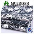 Mulinsen textiles en blanco y negro patrón de la flor de popelina impreso tela algodón 100% para las hojas de cama