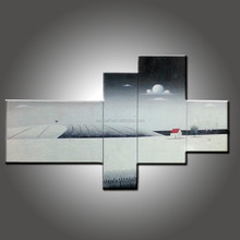Hand Painted Picture White Black Landscape Painting Modern Group Paintings Home Decor Oil Paintings