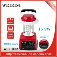 Rechargeable multifunction lantern with AM/FM radio