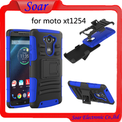 Mobile phone accessories cell phone case for Motorola xt1254,for Motorola xt1254 holster combo case