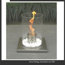 fireplace entertainment center, round ethanol burner