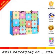 4 colors CMYK full color printing shopping laminated tote bag
