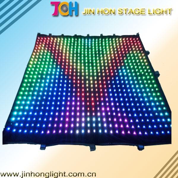 Iluminação led / led estrela de pano / cortina de vídeo levou
