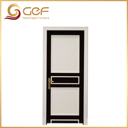White and black design hot sale modern solid wood door