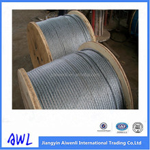 7x19 6m galvanized steel wire ropes for construction lift