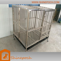 customizable large folded stainless steel bulldog cage SED1-004