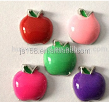 Top selling colorful apple charms wholesale,fruit charms floating charms wholesale