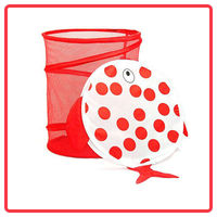 With cute animal shaped lid practical laundry basket
