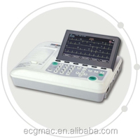CE marked Portable 3 channel ECG machine supporting External printer, linear barcode with 24 months warranty