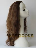 Fashionable Machine Made Mongolian Virgin Human Hair Jewish Bnad Fall Wig
