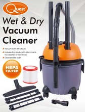 1200W Electric Wet and Dry Vacuum Cleaner, vacuum dirt and liquid with 15L Capacity
