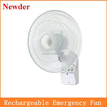 16 inch rechargeable fan with light, rechargeable wall mounted fan