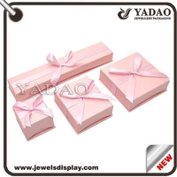 China MOQ 1000 one set paper box for jewellery such as ring earings necklace and bracelets packing jewelry storage case
