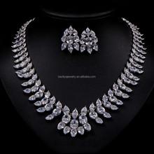 Fashion CZ Necklace Bridal CZ Necklace AAA+Cubic Zircon Necklace Set