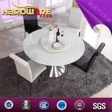 round glass folding dining table / round extendable glass dining table