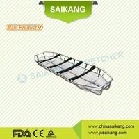 SKB2C03 Aluminum alloy helicopter rescue basket stretcher folding ambulance stretcher