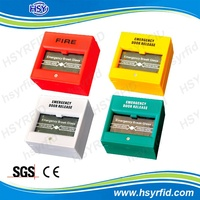 HSY A2 fire Emergency break glass security alarm panic button with fireproof material