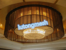 Ceiling metal mesh curtain room divider for decorative hotel and restaurant