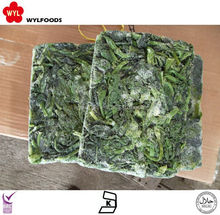 high quality frozen vegetables spinach brick