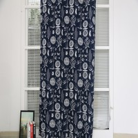 Wholesale Chinese style canvas printed window curtain drapery for door room