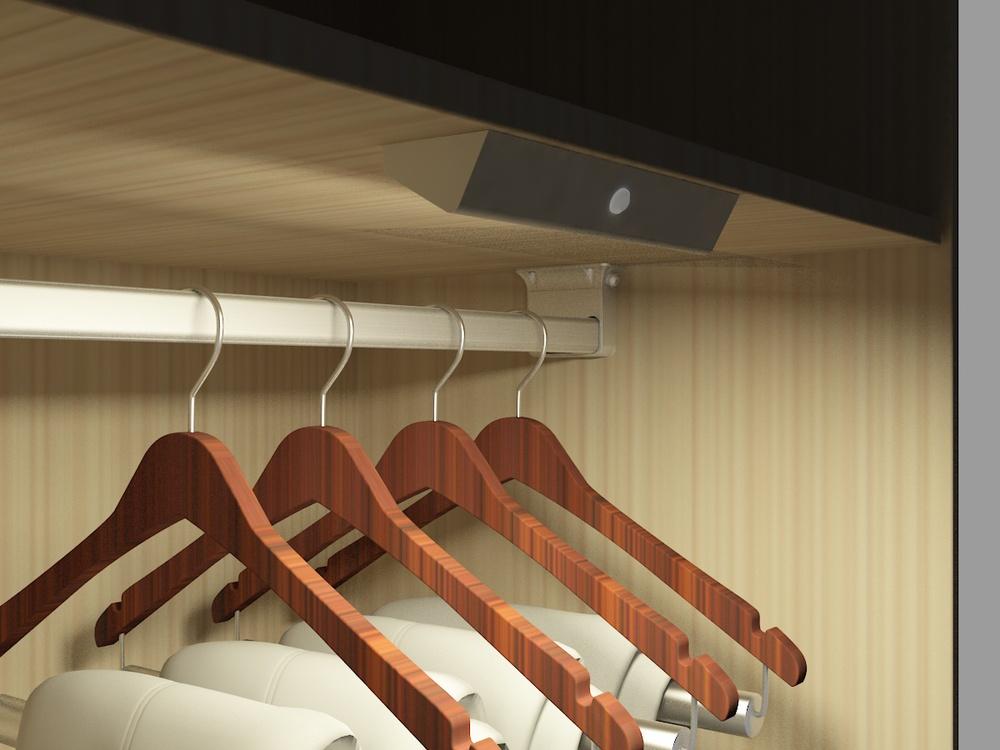 어댑터 전원 침실 옷장 LED 조명 배터리 작동 램프 주도 옷장 봉에 ...