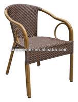 Aluminium bamboo look wicker chair