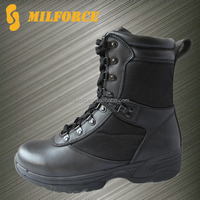 genuine cow leather police tactical boot black cheap military boots