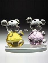 hermoso par de color de cristal panda bebé oso de peluche regalos