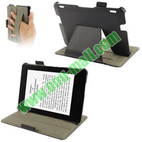 Thermal Styling Litchi Texture Leather Case for Amazon Kindle Fire HDX 7 with Armband