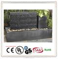 black jardim fonte de parede de água com plantador