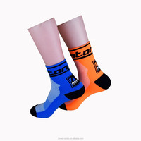 Bulk Wholesale Customized Colorful Sport Compression Polyamides Cycling Ankle Socks Men