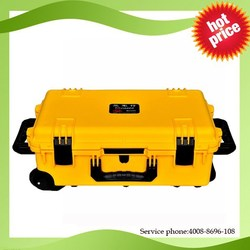Tricases M2500 rugged waterproof hard plastic military trolley luggage
