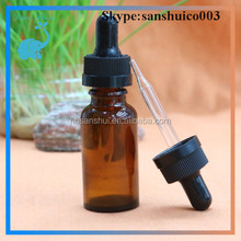 Top Quality 20ml amber glass e juice liquid bottle with childproof cap
