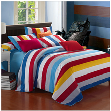 Hot sale cheap 100% polyester fancy bed sheets new design elegant printed colorful high quality used bed sheets/bed cover set