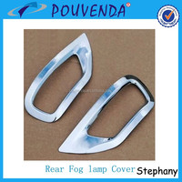 Chrome Rear Foglight covers fog lamp cover For Jeep Grand cherokee 2014 4x4 auto accessoires