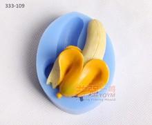 Molde do bolo do silicone banana fondant ferramentas de decoração do bolo utensílios de cozinha utensílios
