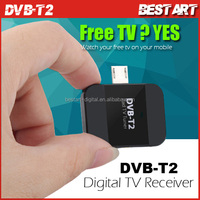 New DVB-T2 USB HD Digital TV Receiver USB TV Tuner Digital DVB-T2 DVB-T Satellite Receiver TV Stick For Android Phone/Pad