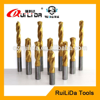 4 flute 0.1mm tungsten chamfering drill bit in plastic drill bit case