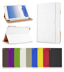 Luxury Tan Magnetic Stand Wallet PU Leather Flip Case Cover for iPad Pro